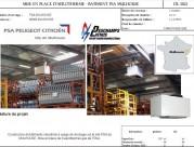 Mise en place d'aérotherme - Bâtiment PSA Mulhouse